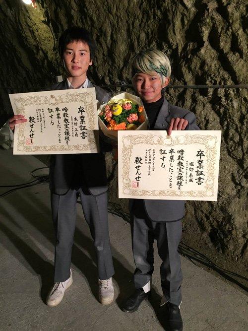 昨日、映画『暗殺教室~卒業編~』撮影が無事にクランクアップしました!今回も加藤清史郎は堀部糸成役を頑張らせていただきまし