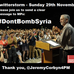 At 6pm tomorrow (Sun 29/11), please drop everything and help us deliver a very clear message to MPs: #DontBombSyria https://t.co/Csur8ItSgI