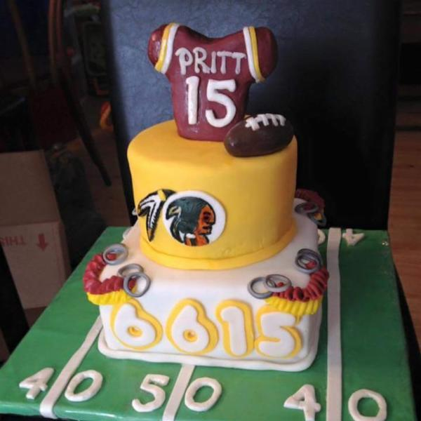 A #redskins themed wedding cake to start the marriage off on the ...