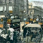 Victorian London in color, this rare painted in photo really brings out the character.#london. https://t.co/AaVRmmfMxP
