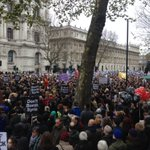 Thousands outside Downing St listening to Tariq Ali now #DontBombSyria https://t.co/H2mSjaSMdp