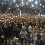 PHOTO: Massive Crowd in #Sarasota for @realDonaldTrump . 5,000 inside, hearing that there's another 5,000 outside. https://t.co/Wzfn72ghqC