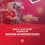 Enter for the chance to win a signed Bastian Schweinsteiger shirt: https://t.co/x4yGXXmhIR #mufc https://t.co/KJH8hQnCXM