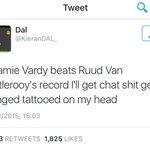 #ThatAwkwardMoment When Jamie Vardy breaks the record. https://t.co/GUyTPnbrAM