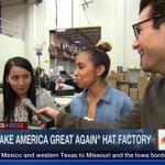 I met the workers making @realDonaldTrumps #MakeAmericaGreatAgain hats. WATCH: https://t.co/ix4FIrrKHn https://t.co/JEcM0rwWeq