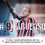 #FabulosoÉSãoPaulo #211Gols  @luis_fabuloso também é o recordista em mata-mata (52) e comp. internacionais (21) https://t.co/jP7l8LbFaP