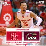 GOOD MORNING, Cougar fans, Will see you in a few hours when we take on ULM at 7 pm TONIGHT in Hofheinz! #GoCoogs https://t.co/3wwaLYY5Q9