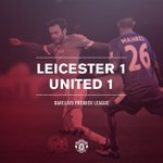 FT: Leicester 1 United 1. The Reds earn a point away from home thanks to Schweinsteigers first goal for the club. https://t.co/bIe9vqOgns