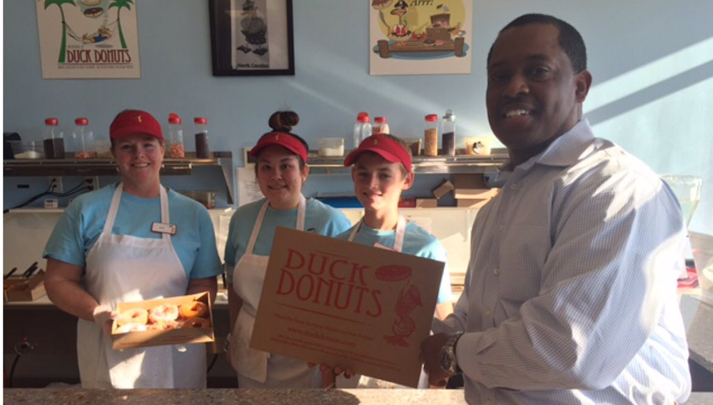 Happy #SmallBizSat! Our Ast Administrator Jerome Fletcher visited his local donut shop. Where will you shop small? https://t.co/yDyLIxqtKT