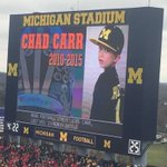RT @FOXSportsDet: There was a moment of silence for Chad Carr before the Michigan-OSU game #ChadTough https://t.co/zqE9SxHx76