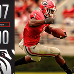 SCORE UPDATE: At the end of the first quarter @FootballUGA leads Georgia Tech 7-0 after Sonys 34-yd TD run. https://t.co/XztgbRDw81