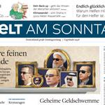 Die Titelseite der WeLT AM SONNTAG – mit neuem Logo! @welt @N24 https://t.co/znl7Ez4csD https://t.co/WHjRDHcKCg