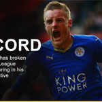 GOAL! HES DONE IT! Jamie Vardy, @premierleague record holder. 1-0 https://t.co/5VQ6N54xRZ #LCFC #MUFC https://t.co/D9drfMF32n