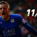 Hes done it! Jamie Vardy becomes the 1st player to score in 11 consecutive @premierleague appearances #SSFootball https://t.co/Wab3tjkRO0