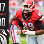 Halftime Update: The #Dawgs lead it 7-0. Its first time Tech has been shut out in the 1st half this year. #UGAvsGT https://t.co/dOiV9QKwct