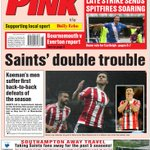 Tonights front page of the Pink: Will be live on the app soon - https://t.co/FmXUQurGTy #saintsfc https://t.co/BIP91t7jdG