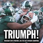 Final: Michigan State 55, Penn State 16. The #Spartans are headed to the Big Ten championship to take on Iowa! https://t.co/fjiSizvKNP