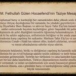 M.Fethullah Gülen Hocaefendi, Diyarbakır Baro Başkanı Tahir Elçi ve şehit polislerimiz için taziye mesajı yayınladı: https://t.co/N0uglWPeTY