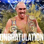 Introducing the new Heavyweight Champion of the World, Tyson Fury #KlitschkoFury https://t.co/0XI8nQyKgE