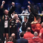 .@Tyson_Fury celebrating his World title win. Report here: https://t.co/i8oM5Mzv2B https://t.co/QDEtSBsphR