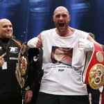 This is how it feels to become the new champion of the world. #tysonfury beats #Klitschko https://t.co/PP5g83C17f https://t.co/Eu0WCS5LCt