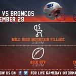 .@Broncos Game Day Information. #NEvsDEN https://t.co/GxfMByQOtV