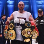 Another view of @Tyson_Fury with his world title belts. Report here: https://t.co/V0CrdYXtjy https://t.co/hKrODA5PVD