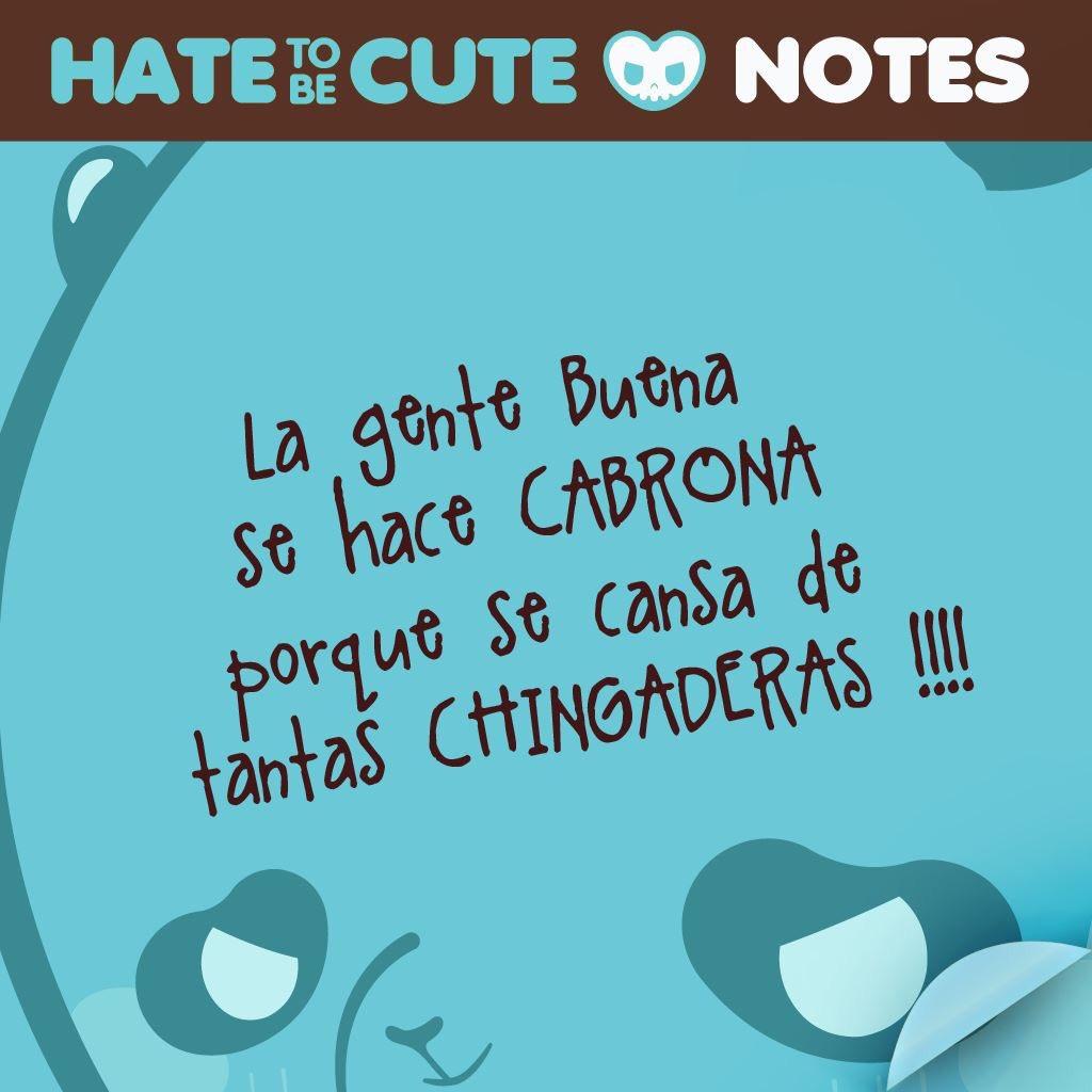 RT @hatetobecute: #FelizSabado menos a los que salen con sus chingaderas www.facebook/hatetobecute https://t.co/g8WTP8ROyi