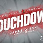 Lamar Jacksons 35-yd TD pass to James Quick ties the score at 24-24 with 0:02 left in the 3rd https://t.co/dB6P6JKvRe