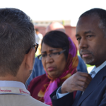 Dr. Ben Carson and Candy Carson meet with Syrian refugees at the Za'atari camp in Jordan today. https://t.co/y14LLNscpM