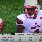 Lamar Jackson didnt start, but did this so far... https://t.co/xZ8NmfVeHZ