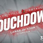 Lamar Jackson scores his 2nd TD of the game & sets school record for rushing yards by a QB with 186 on 17 carries. https://t.co/gMxJOWHy0F