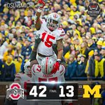 Ohio State racks up 371 Rush Yds at the Big House as Urban Meyer moves to 4-0 vs Michigan. https://t.co/XwwcFxP98i