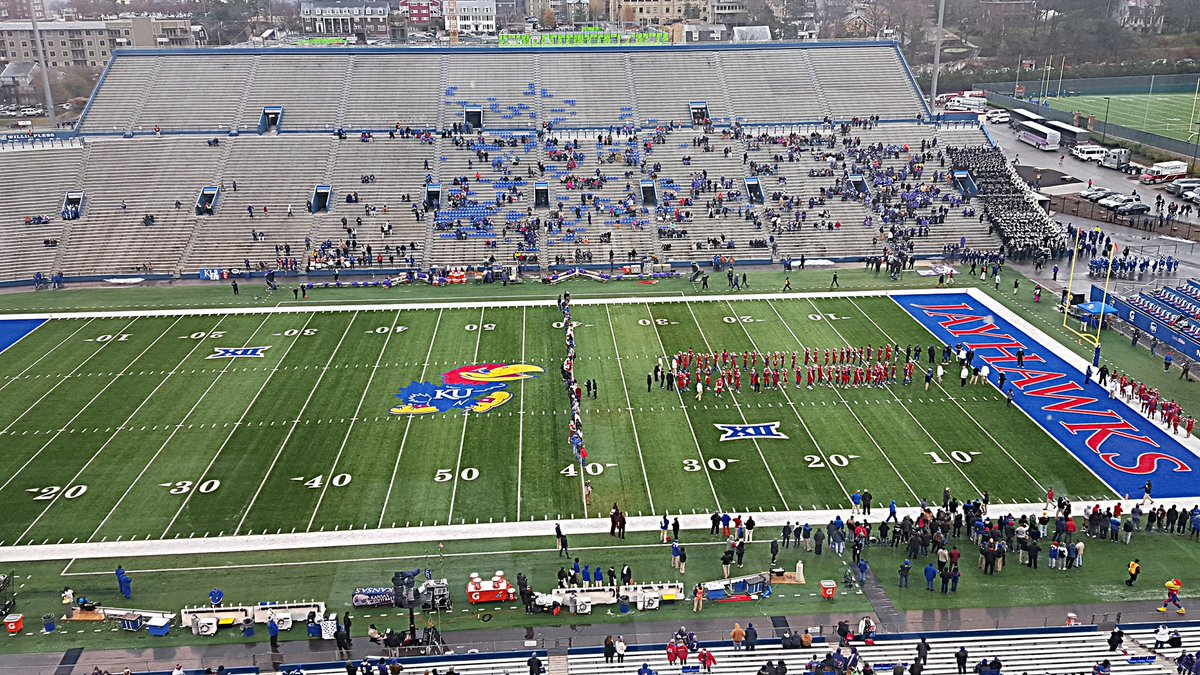 Kansas observes Senior Day celebrations with player introductions prior to kickoff in Lawrence https://t.co/jm9b7JA5on