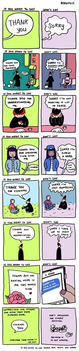 If you want to say thank you, don't say sorry. https://t.co/ILRKP2oV8x https://t.co/RBnz5tWJHz