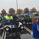 Scary scene in the Blue lot. Police have just arrested a UK fan with a gun who pistol-whipped another fan. @WKYT https://t.co/1isRlVVZvo