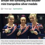 Contrast two stories from @BBCNews both teams earned silver in finals? A win and a defeat apparently #sickofthis https://t.co/w9ROWFG0go