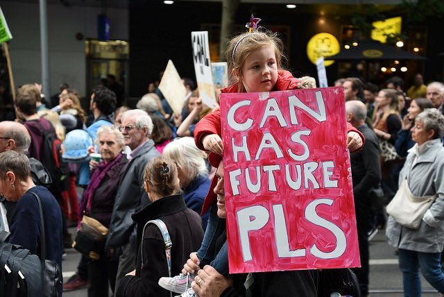 The best banner from the #ClimateMarch so far! https://t.co/cLrIE1N5yB