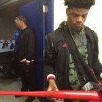 Lamar Jacksons Louisville Slugger MVP bat https://t.co/bFbJdd4lFD