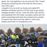 Heres a little more about the Blue lot fight. Lexington police tell me @UKPolice are handling the investigation. https://t.co/I9tDia6Gpq