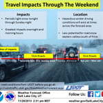 Light snow will cause slick roads as the temperature drops, see the graphic details below! #utwx #utsnow https://t.co/kITjOOeDkM