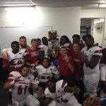 Very proud of THE UNION today. 314 Yards rushing, 4 Rushing TDs. Great Win, Governors Cup victory. #GoCards #L1C4 https://t.co/3UkYZJO9a2