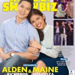 ALDEN RICHARDS and MAINE MENDOZA graces the cover of INSIDE SHOWBIZ. This is sure fire sold out! #SPSLaughWins https://t.co/dj5hFVdqxS