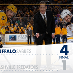 A 4-1 victory for the 2nd consecutive night.. This one in Nashville! #Sabres win! #BUFvsNSH https://t.co/7QOfTnnzYz