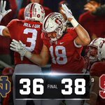 ITS GOOD!! Stanford hits a last second FG to defeat Notre Dame, 38-36! https://t.co/zjhmixXR6P