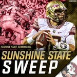 First the Hurricanes, now the Gators. @FSU_Football has taken over the Sunshine State. https://t.co/LQm1CPZmlW