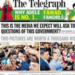 This is the Media we expect will ask though questions of the Modi govt? The Telegraph and @abdullah_omar nail it! https://t.co/B3UxVjy0Ia