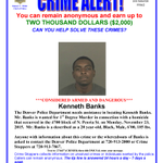 PLZ RT: Banks is wanted for 1st Degree Murder in connection w/homicide in 4700 blk of N. Peoria - Call 720-913-7867! https://t.co/O9AuArMaCC