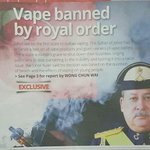 """""""@Twt_Larkin: Vape banned by royal order https://t.co/bSn4DgwLTY"""" please buat kat kedah jugak."""