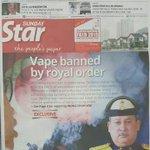 Sultan Johor mengharamkan penggunaan dan penjualan vape di Johor mulai 1 Januari 2016. https://t.co/U1nJAlp7Jv